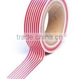 Wholesale YIWU FACTORY adhesive masking tape 15mm x 10m Washi Tape Red Pin stripe Decorative Trendy Paper Packaging Tape