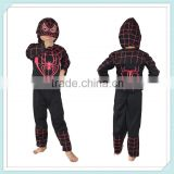 Movie super hero cosplay party wear sexy spiderman costume for sale black Spiderman Stretch Suit Childrens Kids Fancy Dress