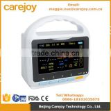5 inch Touch Screen Patient Monitor ECG NIBP SPO2 Pulse Rate and Temperature bluetooth function software