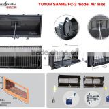 YUYUN SANHE poultry ventilation equipment FC-2 air inlet / air vent / air cooling window