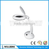 Moveable RT2100A LED Desk Lamp Skin Checking Magnifying Lamp China Factory Adjustable