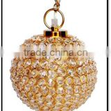 Modern decorative gold plated one light crystal Pendant light