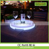 Led Flashing Bar tray,light up tray for drink cup,multi color drink coaster