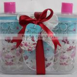 4 PCS BATH SET W/PLASTIC BASKET