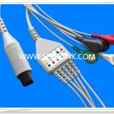 Generic AAMI 6 Pin One Piece ECG Cable