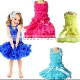 WHOLESALE 4 DESIGNS FLUFFY CHRISTMAS BABY SATIN PETTISKIRT SKIRT TUTU DRESS SATIN PETTI TOP SET 0-6YEARS PETTISKIRT SETS