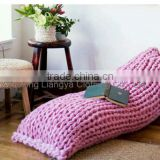 Cheap Imitation Wool Feeling Thick Knitted Chunky Blanket
