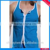 Gym tank top vest sleeveless button sweater vest for men