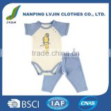New arrival! wholesale new baby girl clothes set 2pcs bodysuit with pants set