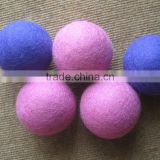 Eco friendly customized multi color felted dryer ball/ Hot selling organic felt dryer ball/Nepal hand made felted dryer balls