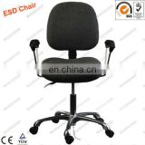 ESD fabric chair with arm rest and 3 adjustment function