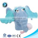 2017 Cheap kids toy custom cute big ears soft stuffed plush blue elephant toy glove hand puppet theater