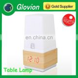 Glovion wooden led digital alarm clock led bedroom lamp voice control led lamp