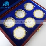 Wholesale Cheap Custom Fake Gold and Silver Metal Religion Catholicism Commemorative Coin High Quality Souvenir Coins With Box