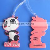 Kids bag tag panda shape cute lugagge tag