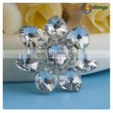 Women evening dress accessories clear rhinestone crystal brooch