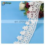 Fashion lace trims fabric for clothes fringe decoration, wholesale flower lace
