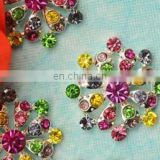 2013 fashion metal color rhinestone button invitation card button