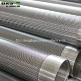 219mm wedge wire screen pipe Vee slotted sand for water oil gas liquid filter