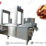 Stainless Steel Automatic Continuous Peanut Fryers Machine Costs 200KG/H