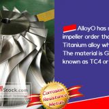 TI-6AL-4V Titanium Alloy Impeller was successfully delivered