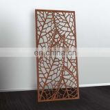 Outdoor Decorative Laser Cut Leaves Metal Wall Hanging Partition Screen