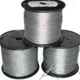 Galvanized steel wire rope structure 1x7, 1x12, 1x19, 7x7