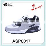 new arrival ladies women comfortable breathable high heel and high ankle lace up pu and suede running sport shoes