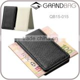 Saffiano leather magnetic money clip holder cash clip with hidden magnetic