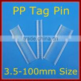 Ruifeng Brand Tag Pin With 3.5~100mm Width Standard Tag Gun Pin PP Tag Burbs MOQ 1Carton (200,000pcs) For Standard Tag Guns Use