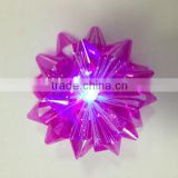 2014 HOT Sale! Festive Patry Decoration Star Ribbon Bow with LED Light for holiday decoration