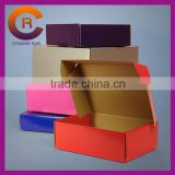 Different colors corrugated paper custom made shoe box