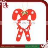 Lovely Fabric Xmas Decoration Handmade Applique Patches Santa Claus Walking Stick DIY Craft Set Christmas Ornaments