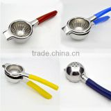 New High quality orange squeezer strong Stainless Steel 304 Manual Juicer Lemon Squeezer with Silicone Handles 415g