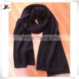Super soft warm black men's cashmere scarf