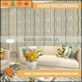 Professional Manufacturer Classic Stripe Style Style PVC Material Tv/Sofa Background Wallpaper