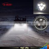 High quality new 7 inch round 60W jeep wrangler led headlight with angel eyes turning light