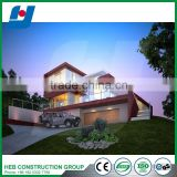 Affordable Light Steel Prefabricated villa with quick installation steel structure building