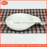 lowest EU anti-dumping duty porcelain candy shape dishes with handle or plate for seasoning oil juice or japanese soy sauce dish