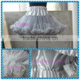 100%soft nylon chiffon girl tutu ruffle aqua blue child pettiskirt adjustable waist kid petticoat flower