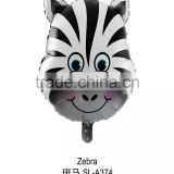 animal head shape helium balloon