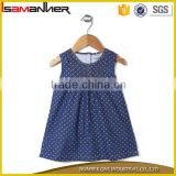 Fashion kids girls dresses sleeveless denim pattern baby girls stylish frocks                                                                                                         Supplier's Choice