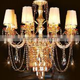 Gold modern austrian crystal chandeliers living room