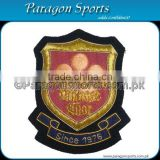 Handmade Bullion & Silk thread Embroidered Uniform Blazer Badge