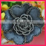 Wholesale sew on beaded flower patch for clothes WPH-1695