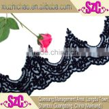 X0200-16(0.9) evening dress black embroidery polyester lace trims cording applique