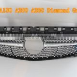 Front Bumper Grille FOR BENZ W176 A180 A200 A260 diamond grille