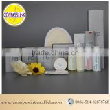 hotel amenity set/luxury bath room amenities/hotel ameneity supplier with shampoo/soap/toothbrush/loofa/body lotion/shower gel