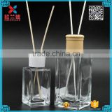 Korea wholesale reed diffuser oils botella de vidrio reed diffuser 80ml,200ml rectangle shape bottle                                                                                                         Supplier's Choice