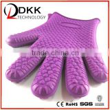 DKK-B097 High quality silicone heat resistant gloves/silicone oven mitt glove /silicone glove